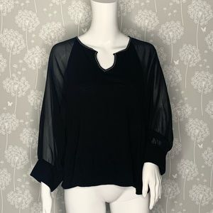 Anthropologie Akemi + Kin Blouse Size Small Black